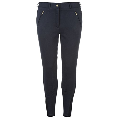 Requisite Damen Winter Breeches Reithose Stiefelhose Reitsport Hose Taschen Marineblau 10 (S)