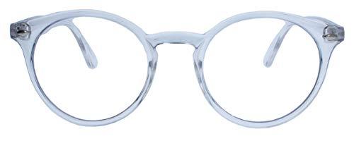 50er Jahre Nerd Brille Vintage Look Streberbrille Rockabilly runde Hornbrille clear lens N1554 (18 transparent)