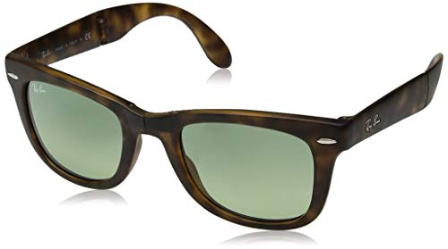 Ray-Ban Sonnenbrillen Wayfarer Folding RB 4105 Matte Havana/Green Shaded Unisex