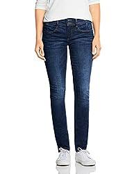 Street One Damen 372564 York Fit Slim Jeans, Blau (Indigo Stone wash 12030), 28W / 30L