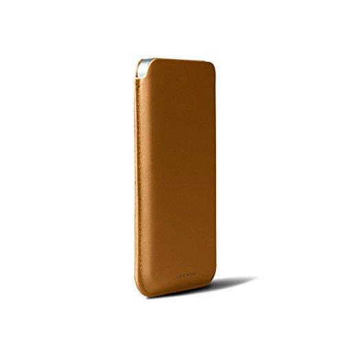Lucrin ET2028_VCLS_VTT Färsenleder Hülle für Apple iPhone 5/5S grün Natur