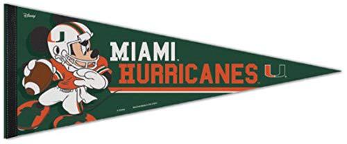 Wincraft Snack-Schale Miami Hurricanes Disney Mickey Maus Fußball Premium Pennant 30,5x 76,2cm