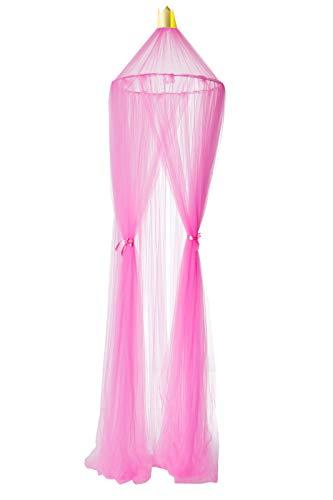 Betthimmel Baldachinfür Mädchen und JungenDeko Kinder Kinderzimmer Bett Moskitonetz rosa pink 60 x 240 cm aus Tüll