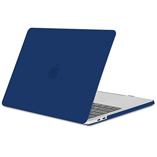 TECOOL Hülle für MacBook Pro 13 2016/2017/2018, Slim Plastik Hartschale Schutzhülle Snap Case für Apple MacBook Pro 13,3 Zoll mit/ohne Touch bar (Modell:A1706 A1708 A1989) - Navy Blau Navy Snap