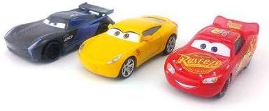 PLUSPOINT Cars3 Friction Powred Set of 3 Cars (McQueen,Cruiz Ramirez,Jackson Storm).