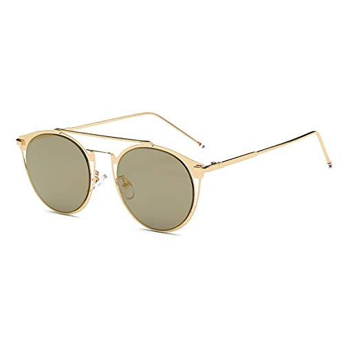 MOJINGYAN Sonnenbrillen,Vintage Colorfull Metall Sonnenbrillen Mode Thom Browne Sonnenbrille Männer Marke Sonnenbrille Box Frauen Gold Tuhaogold