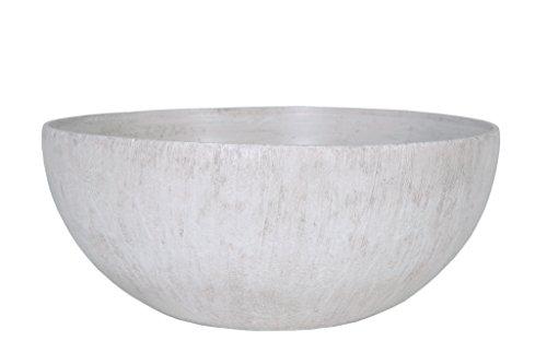 Universal Pot de fleurs, Coupe de fleurs Roto Pebble, résistant au gel et ultraléger, Blanc, 50x22cm