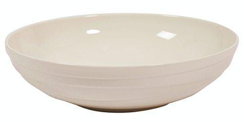 """Jamie Oliver olas grandes de 32cm/12.6""""porcelana ensaladera blanco cerámica moderna y Ultra contemporáneo redonda Coupé para la celebración de frutas o servir alimentos apta para lavavajillas y microondas"""