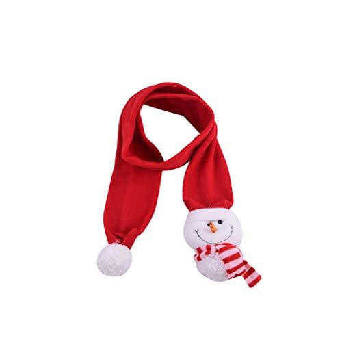 Fenical Sciarpa Natale Babbo Natale Pupazzo di Neve Scialle di Cervo Sciarpe per Bambini (Pupazzo di Neve)