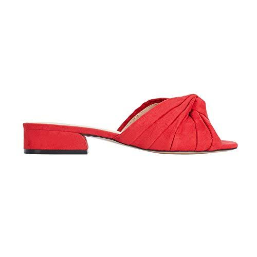 Parfois - Sandalias Tacón Medio Mule Red - Mujeres