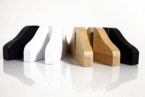 Holz Standfüße für DELUXE Fern-Infrarotheizung (WEISS)