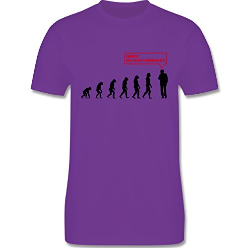 Evolution - Evolution Vermasselt - Herren Premium T-Shirt Lila