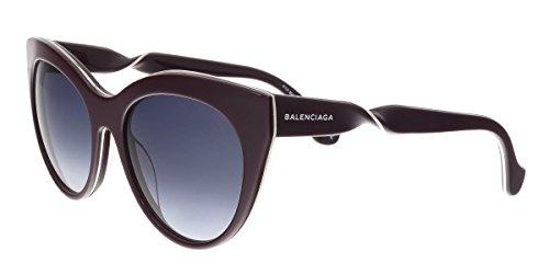Occhiali da sole balenciaga ba0051 c54 69w (shiny bordeaux / gradient blue)