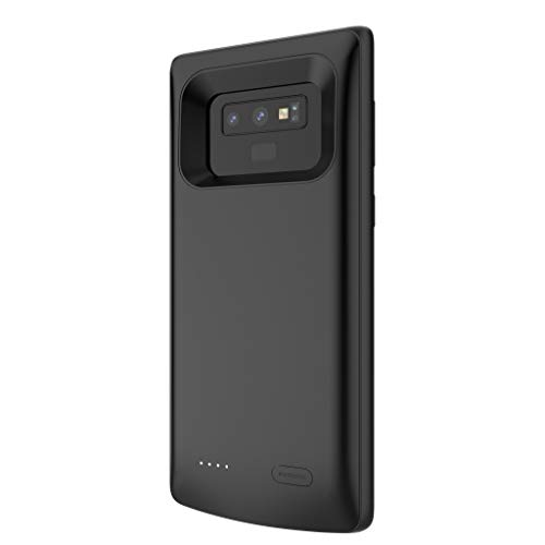 YusellYu_Mädchen Strampler Jumpsuit Yusell 5000mAh Extended Battery Case Telefon Ladeabdeckung für Samsung Galaxy Note 9 (SCHWARZ)
