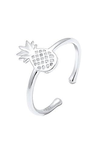 Elli Women Silver 925 Sterling Silver Pineapple Adjustable