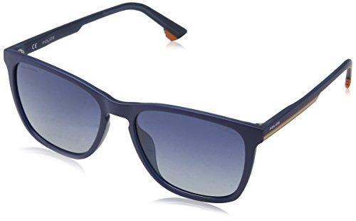 Police track 6 occhiali da sole, blu (matt transp.blue), 55 uomo