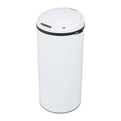 Beldray Cubo de Basura Redondo con Sensor BW07022SSGP, Blanco, 50 L