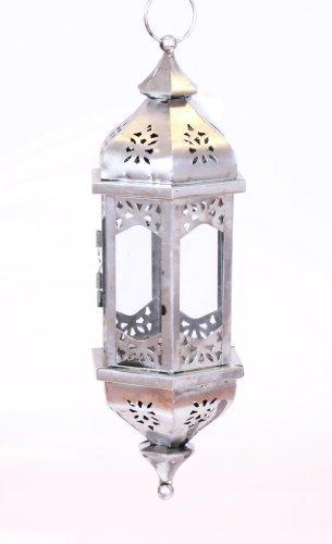 TLW Orientalische Metall Laterne Hängelaterne Windlicht Dekolaterne Hängelampe incl. 50 cm Kette