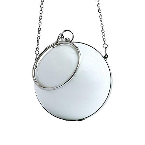 Brucelin 1 Stück Handtasche für Abendveranstaltungen, Acryl, transparent, modisch
