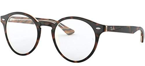 Ray-Ban Unisex-Erwachsene 0RX5376 Brillengestelle, Braun (Top Black/Dark Brown/Yellow), 49