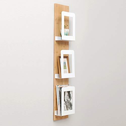 WSR Bücherregal, Wandbehang aus Massivholz + Kunstrahmen aus Eisen,3 stück -