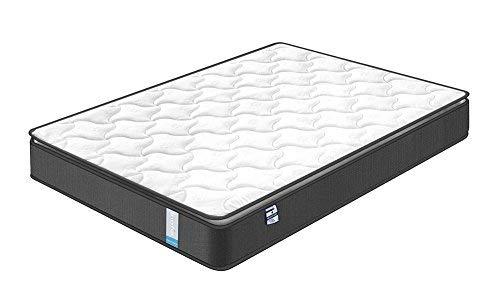 Inofia Matratze 140x200 Federkernmatratze H3 Taschenfederkernmatratze,Oeko-TEX® 100,7-Zonen,Höhe 22 cm,weiß,100 Nächte Probeschlafen,10 Jahre Garantie(Airy Breathable)