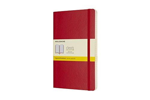 Moleskine Notizbuch Large, A5, Kariert, Soft Cover, Scharlachrot