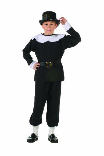 RG Kost-me 90067-L Pilgrim Boy Kost-m - Gr--e - Kinder Pilgrim Boy Kostüm