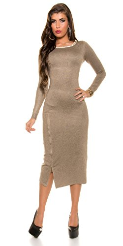 In-Stylefashion - Robe - Femme marron taupe taille unique Taupe