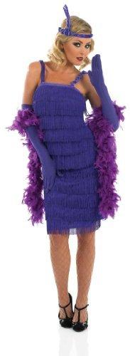 Roaring 20S Girl Purple (Moll Kostüm Gangster's Uk)