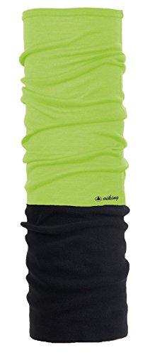 Viking Multifunktionstuch Schal Schlauchtuch aus Merinowolle, extra warm mit Fleece Bandana 4332, 73 grün (Wolle Combo)