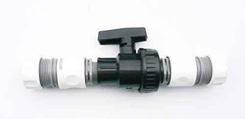 Farm & Field Hardware PVC Eingang Kugel Ventil Einzeln Union mit 2 X Snap Am Schlauch Zubehör - 3/4