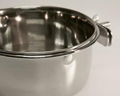 Kerbl 82782 Edelstahlnapf 600 ml, 12 cm Schraubbefestigung für Nager - 3