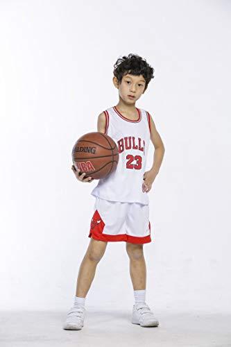 ceb71eef8ca runvian Ensemble de Maillot pour Enfant, NBA # 23 Bulls Jordan / # 23  Lakers James / # 30 Warriors Curry Vêtements d'Entraînement de Chemise de  ...