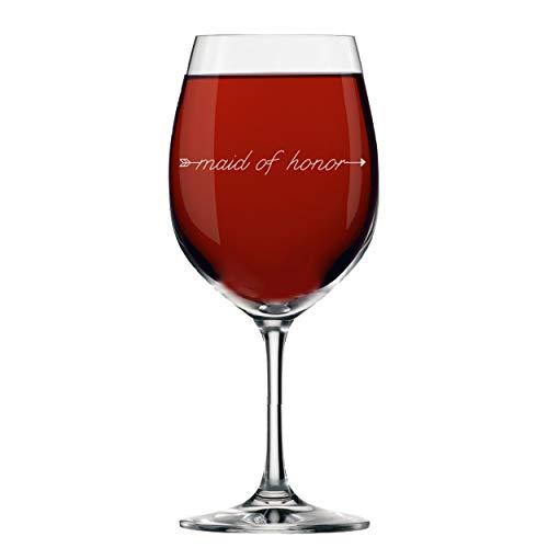 My Personal Memories Weinglas mit Stiel, für Brautpartys Maid of Honor 14oz Arrow Style