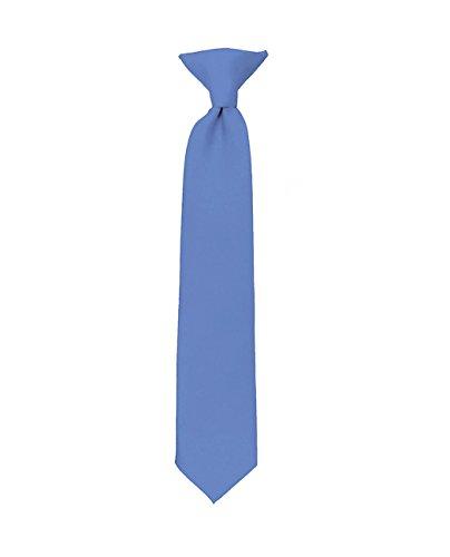 Cravate à clip pour garçon à couleur unie de NYFASHION101 Bleu acier