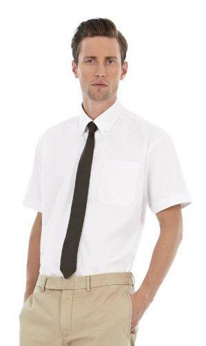 Chemise à manches courtes B&C pour homme (3XL) (Blanc)