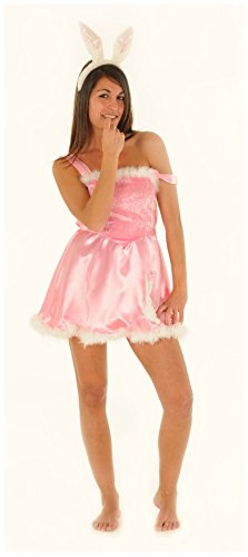 Marco Porta Sexy Hasenkleid Damenkostüm rosa Hase - Sexy Oster Bunny Kostüm