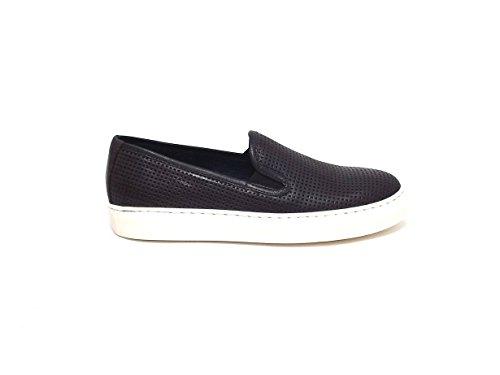Soldini uomo, scarpe sneaker 20137, pelle marrone nr 41 E7102