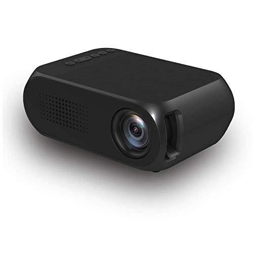 Mini-Projektor , LED tragbare Heimkino Full HD 1080P Unterstützte HDMI DVD AV SD-Karte, Miniatur-HD-Projektor Kinder schwarz