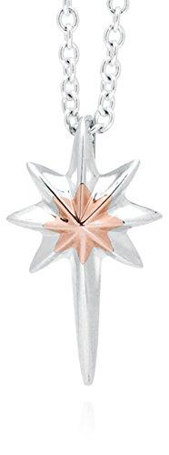 Clogau Gold Anhänger Seren Star, 923 Silber und 9 Karat Rotgold