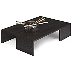 Mesa de centro de estilo moderno roble negro