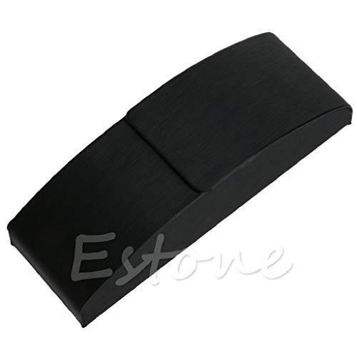 Manyo Schwarz Leder Eisen Metall Kurve Arc Hard Case Box Für Brillen Sonnenbrillen