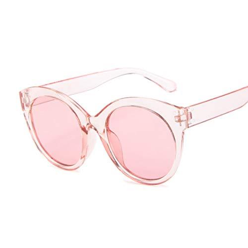 DWSYDA Sommer-Katzenauge-runde Sonnenbrille-Frauen-transparente Farbton-Sonnenbrille-weibliche kühle Farbe,4