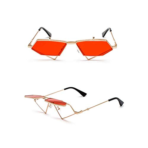 Z&HA Frauen Flip Sonnenbrille Europäischen Und Amerikanischen Hip-Hop-Retro Dekorative Gläser Rahmen, Brillen,Red