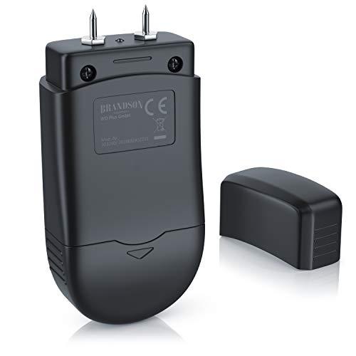 Brandson - Feuchtigkeitsmessgerät für Holz und Baustoffe - Holzfeuchtemessgerät - Feuchtigkeits Detektor