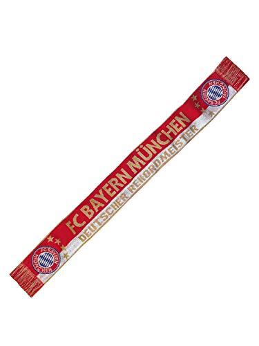 FC Bayern München Schal Deutscher Rekordmeister, Fanschal rot-weiß-Gold
