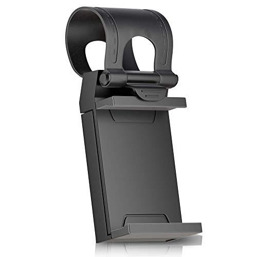 LetiStore Handyhalter Fürs Auto - KFZ Handy Autohalterung Universal Halterung Für Google Pixel 2/2 XL / 3 / 3XL Lenkradhalterung Handyhalterung In Schwarz