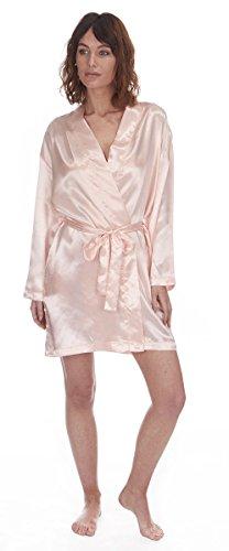 ghansham trading - Robe de chambre - Femme Noir - Rose
