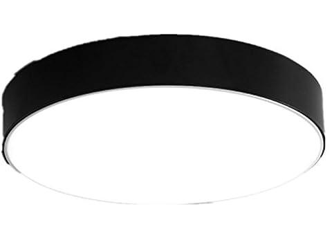 FYN LED Deckenleuchten 12W schwarz runden Durchmesser 22cm, Acryl, einfach, Eisen,, romantisch, warmes Licht, Beleuchtung für Wohnzimmer, Schlafzimmer, Kinderzimmer, Esszimmer, Deckenleuchten , white light , diameter (Runde Dekorative Jar)